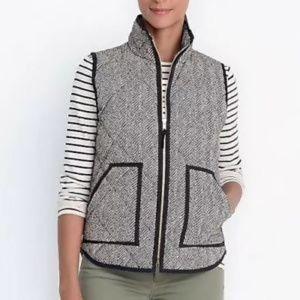 J. Crew Size XS Excusion Herringbone Puffer Vest